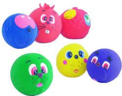 """I.P.T.S. Игрушка для собак """"Мяч с мордочкой животных"""", латекс, в ассорт. 7см"""