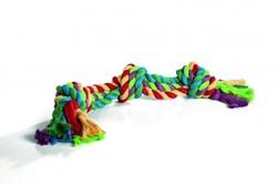 """I.P.T.S. Игрушка для собак """"Канат с 4-мя узлами"""" разноцветный 360г*60см"""