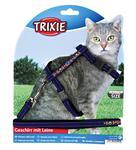 TRIXIE Шлейка с поводком для кошки, бархат с вышивкой