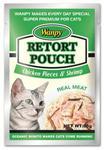 Wanpy Пауч для кошек с кусочками курицы и креветками 85 гр