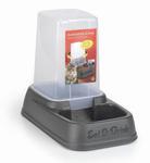 I.P.T.S. Миска-дозатор для корма или воды, пластиковая антрацитовая 33,5*20*27см