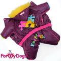 ForMyDogs Комбинезон зимний на синтепоне, модель для девочек, размер 12