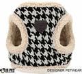 I's Pet Шлейка-жилетка для собак черно/белая с мехом, размер S