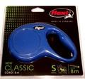 Flexi Рулетка New Classic S (до 12 кг) 8 м трос синяя.