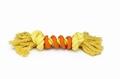 """Beeztees Игрушка для собак """"Канат с 2-мя узлами со спиралью"""", желто/оранжевый 30см"""