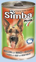 MONGE Simba Dog консервы для собак кусочки говядина с овощами 1230 г