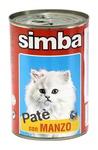 MONGE Simba Cat консервы для кошек паштет говядина 400 г