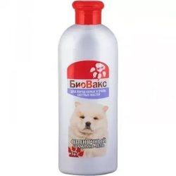 БиоВакс Шампунь-гель для собак оттеночный для пород белых и светлых мастей 305мл