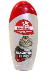 БиоВакс Шампунь для кошек от блох, вшей, клещей и власоедов 200мл