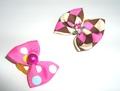 Lukky Бантик для собак на латексной резинке, розовый, 2шт. в упаковке