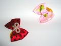 Lukky Бантик для собак на латексной резинке, красный и розовый, 2шт. в упаковке