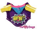 ForMyDogs Толстовка для собак фиолетовая из высококачественного трикотажа с капюшоном, размер 10