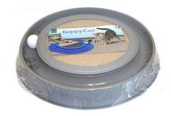GEORPLAST Когтеточка-игрушка для кошек HappyCat с шариком 41х38х5см.