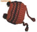 Шапочка светло-коричневая вязанная, размер XL