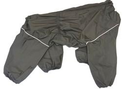 LifeDog Дождевик для больших пород собак, черный, размер 4XL, спина 55см
