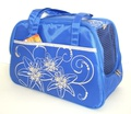 DOGMAN Сумка -переноска для собак №7 голубая с рисунком размер 40х19х25см