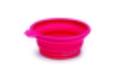 Beeztees Миска силиконовая складывающаяся розовая 14*12,5см