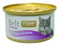 Brit Care Консервы для кошек Тунец и Лосось 80г х 12шт