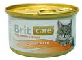 Brit Care Консервы для кошек Тунец, морковь и горошек 80г х 12шт