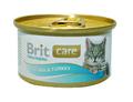 Brit Care Консервы для кошек Тунец и Индейка 80г х 12шт